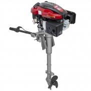 Motor De Popa A Gasolina 6,5hp Kawashima Gv650 Partida Elétrica + Rabeta Vertical Girafer Mke
