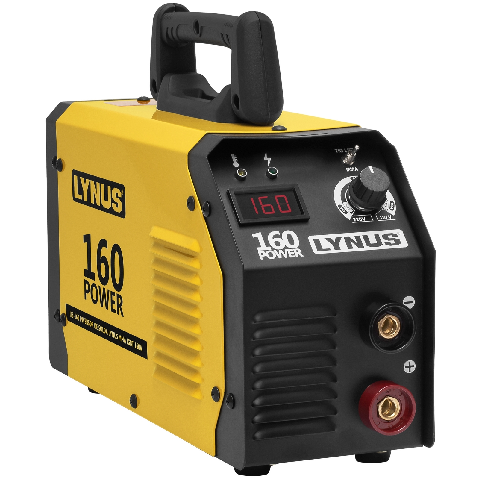 Maquina De Solda Inversora Lynus 160amp Bivolt Lis-160 L16 - Ferramentas MEP