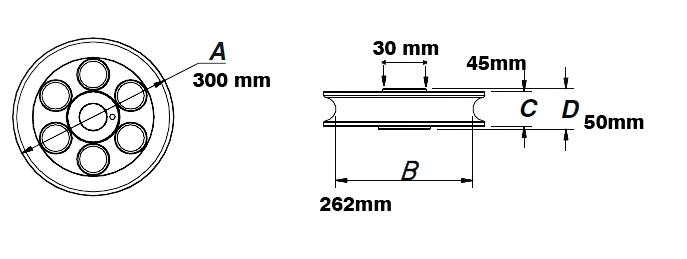 Polia + Canaleta 1 1/2 Para Curvador Dobrador De Tubos - Ferramentas MEP