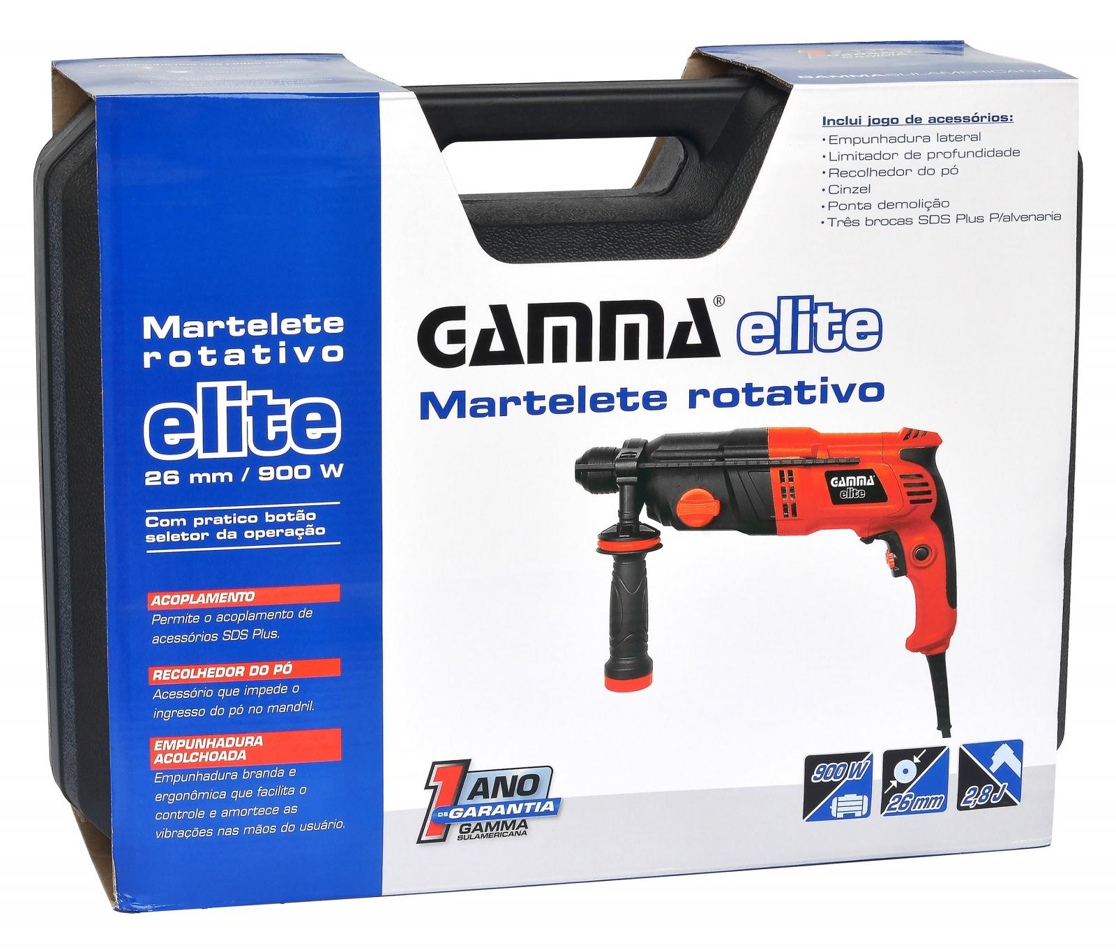 Martelete Rotativo SDS Gamma HG1921BR 110v - Ferramentas MEP