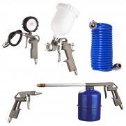 Pistola De Pintura Kit Com Acessórios 5 Peças Pro-517k Kt1