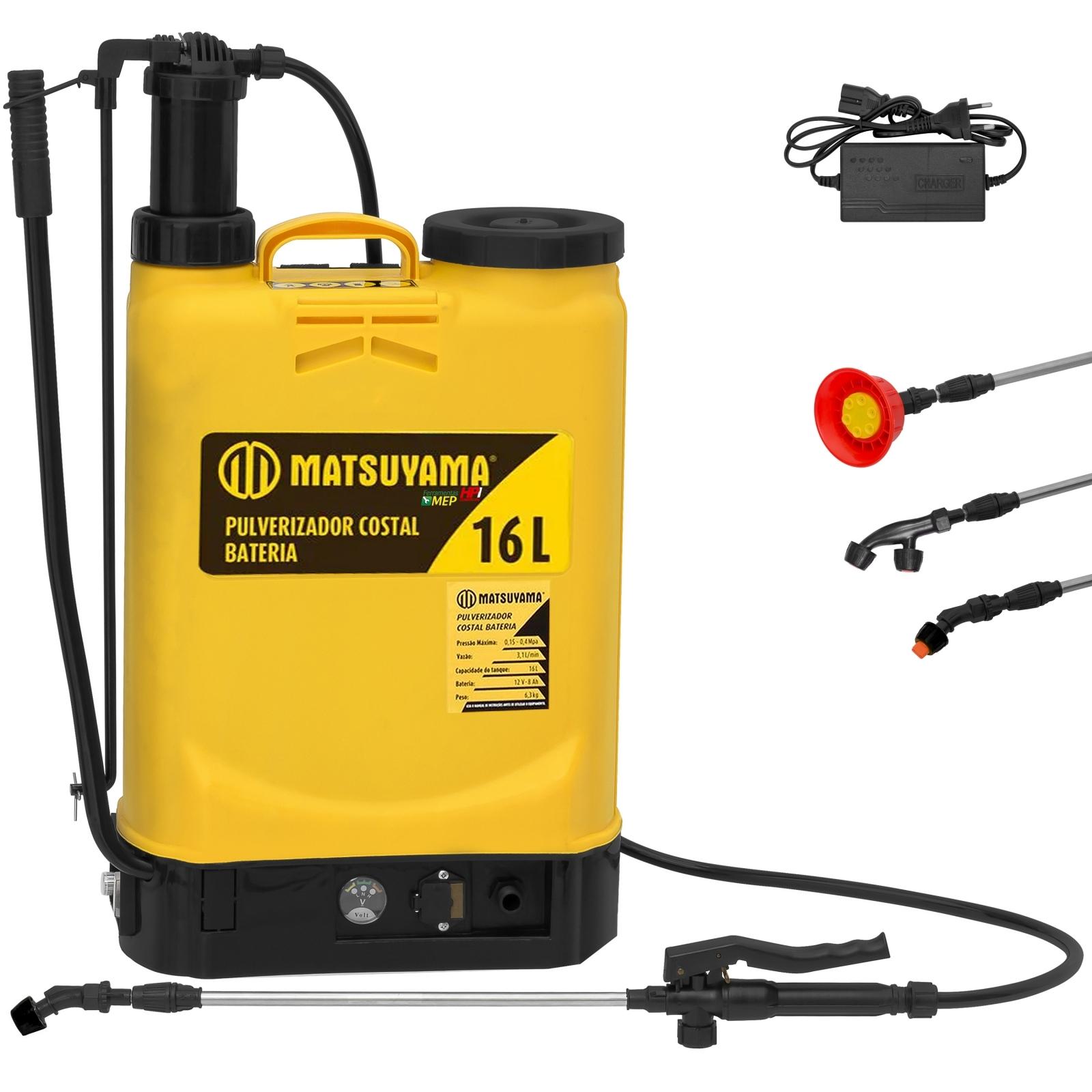 Pulverizador Costal 16 Litros Matsuyama Bateria e Manual Pt1 - Ferramentas MEP