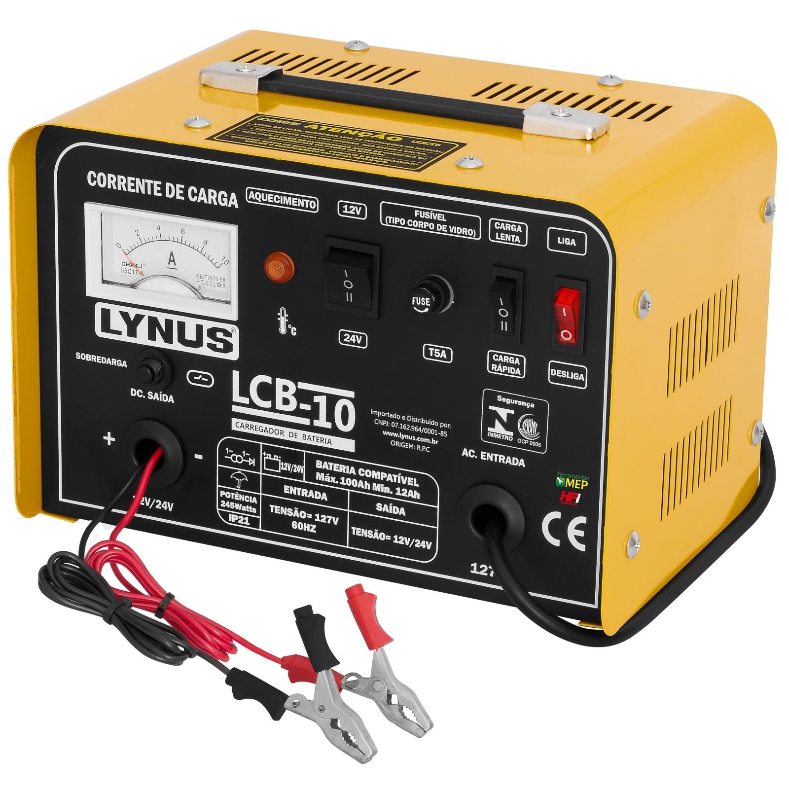 Carregador De Bateria Lynus Modelo LCB-10 100amp - Ferramentas MEP