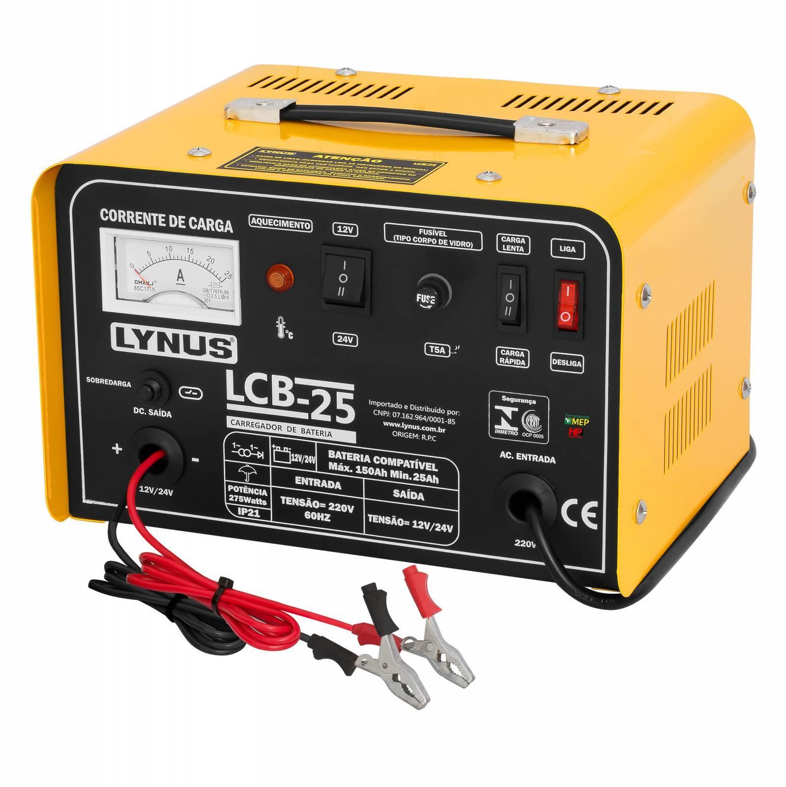 Carregador De Bateria Lynus Modelo LCB-25 150amp Cl2 - Ferramentas MEP