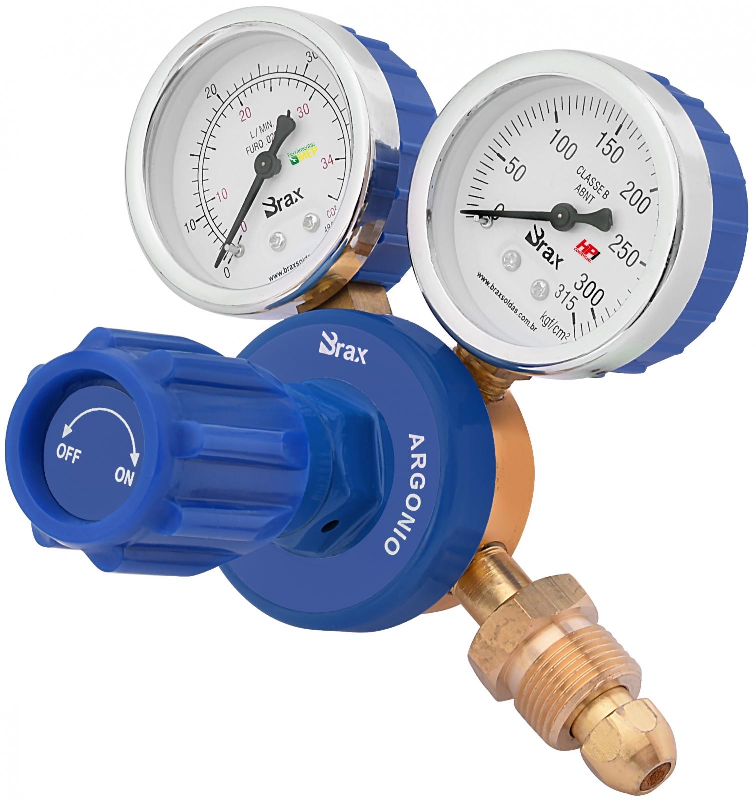 Regulador de Pressão Solda Argônio ou Mistura Com Manômetro Cilindro - Ferramentas MEP