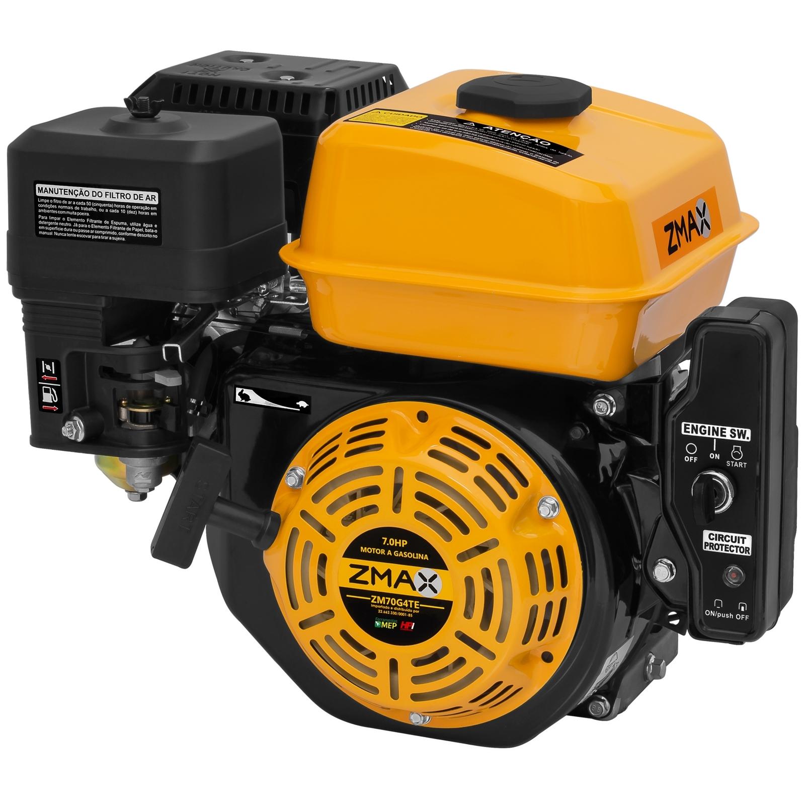 Motor Estacionário Zmax 7hp Gasolina Partida Elétrica 210cc - Ferramentas MEP