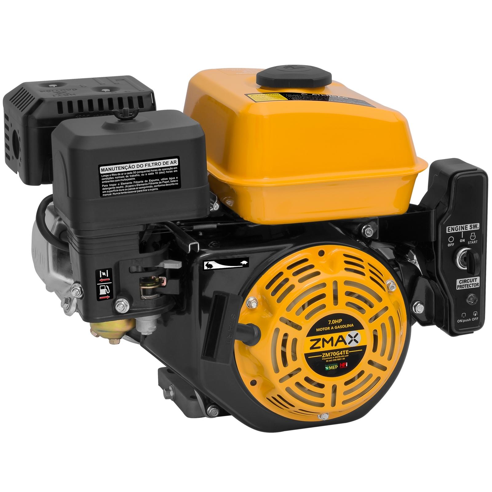 Motor Estacionário a Gasolina 7hp Partida Elétrica Zmax ZM70G4TE - Ferramentas MEP
