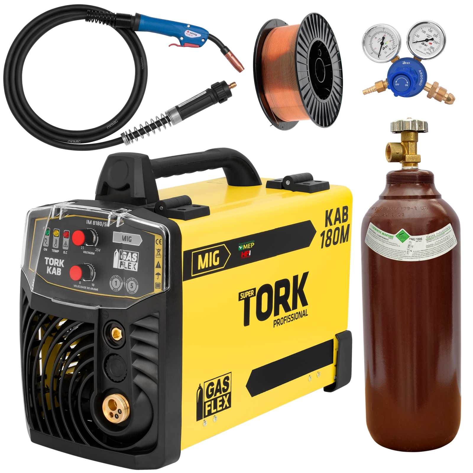 Máquina de Solda Mig Tork 180amp Completa pronta para uso  - Ferramentas MEP