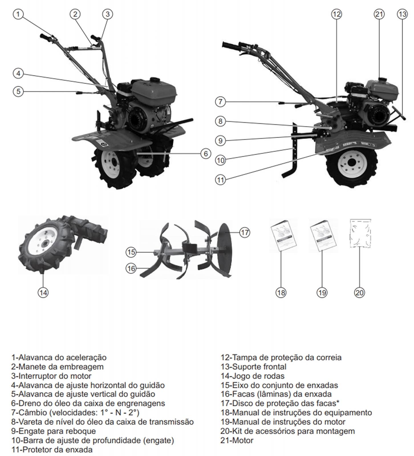 Motocultivador a Gasolina com Enxada Rotativa 7hp Kawashima MCG780 Er2 - Ferramentas MEP