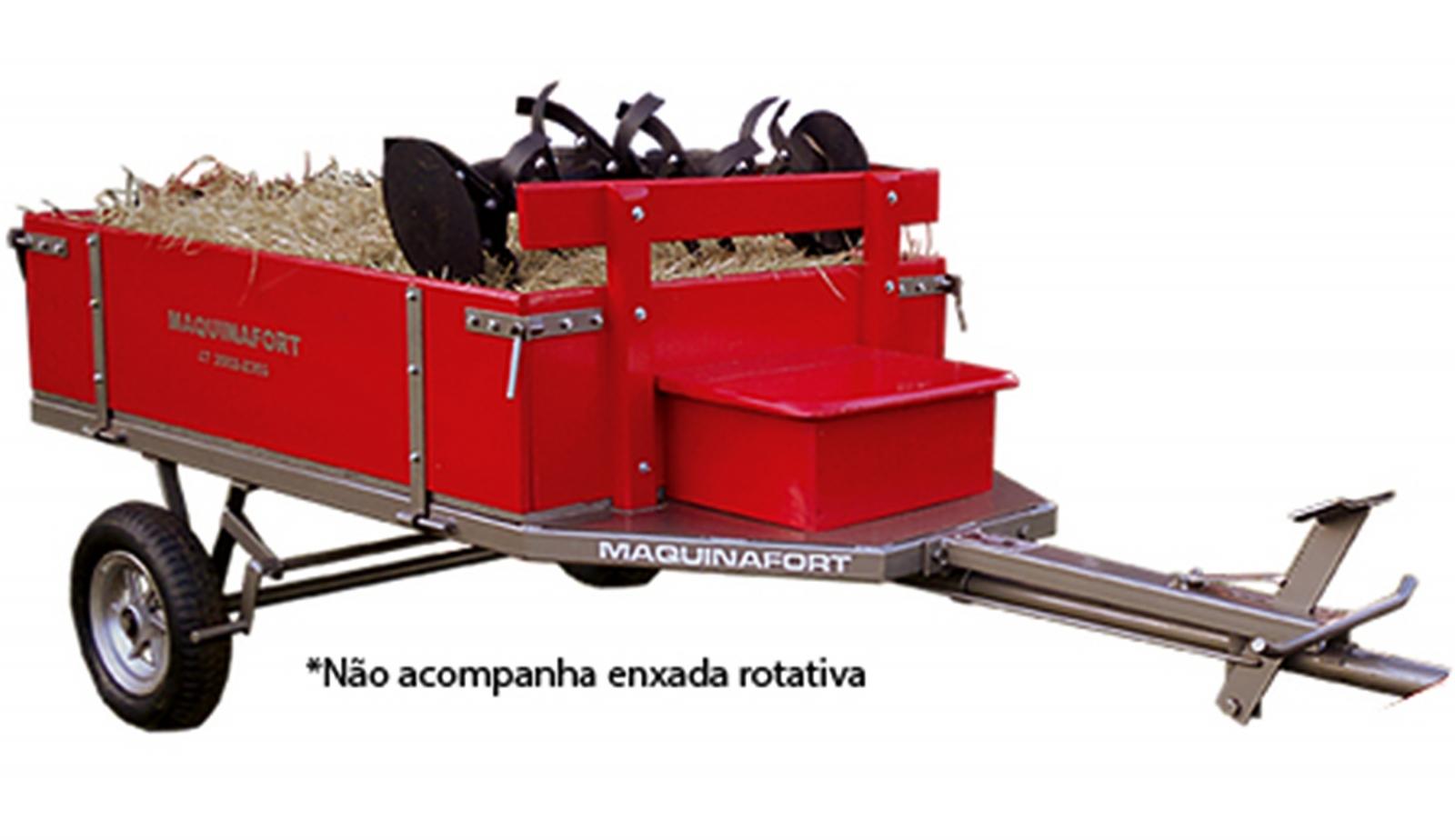 Carretinha Agrícola Para Motocultivador Tratorito Trator Im6 - Ferramentas MEP