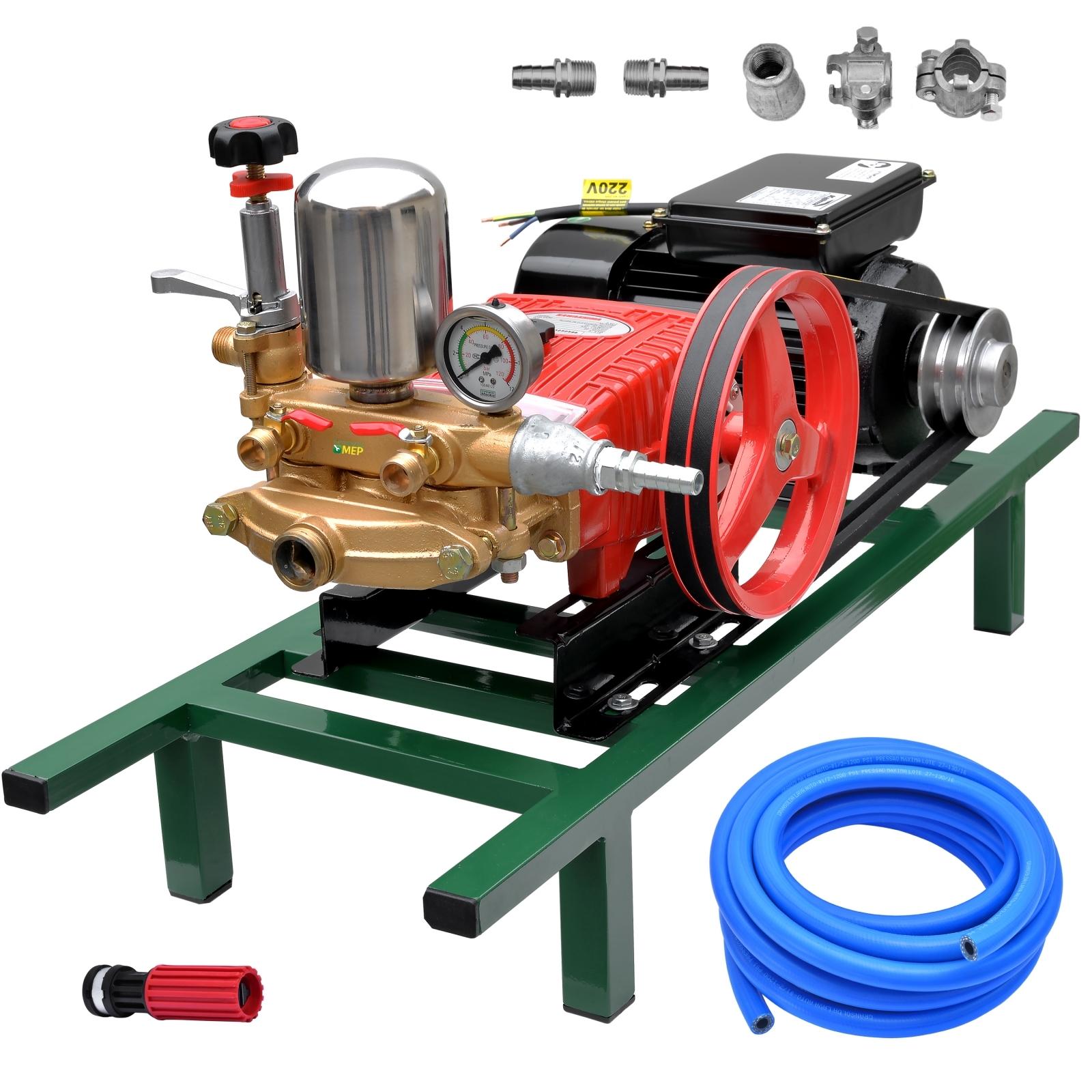 Bomba De Alta Pressão E Pulverização Tekna BPF45 + Motor marca Kajima 2cv 4p Lavacar Completa - Ferramentas MEP