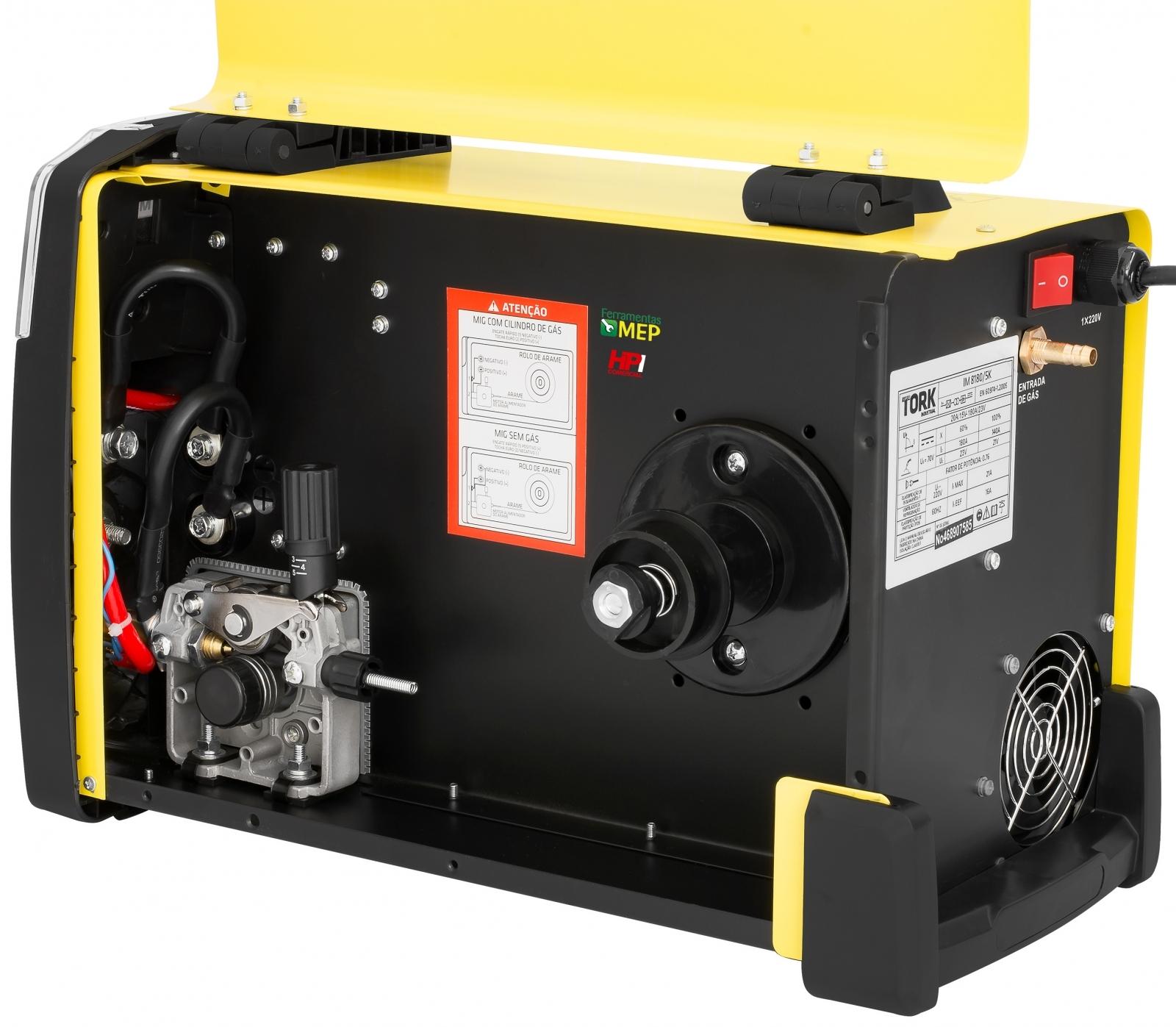Máquina de Solda Mig Mag Tork 180 Inversora Completa Cilindro Reg Arame Mascara - Ferramentas MEP