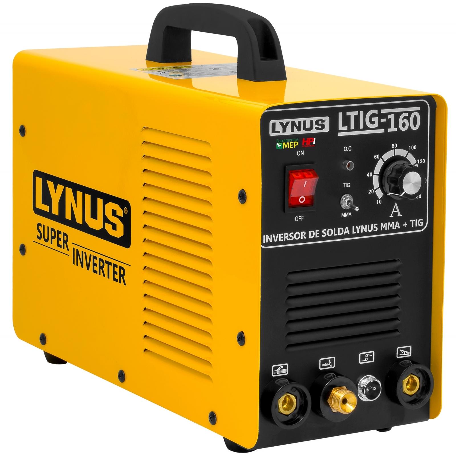 Máquina de Solda Tig Inox Ferro Eletrodo Inversora Lynus Com Tocha 160a - Ferramentas MEP