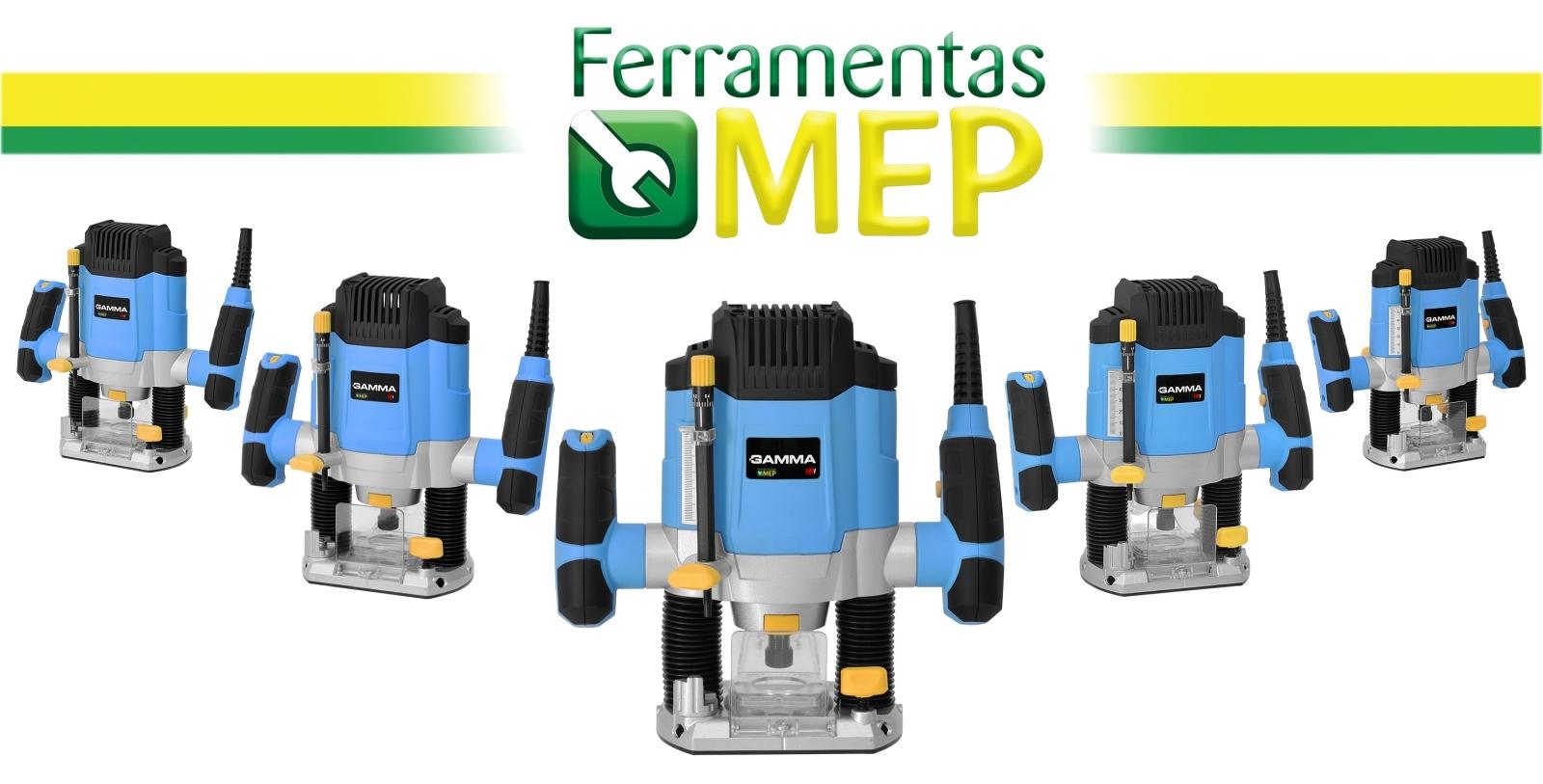 Tupia De Coluna Madeira 1200w Gamma + Jogo De Fresa Com 12pç - Ferramentas MEP