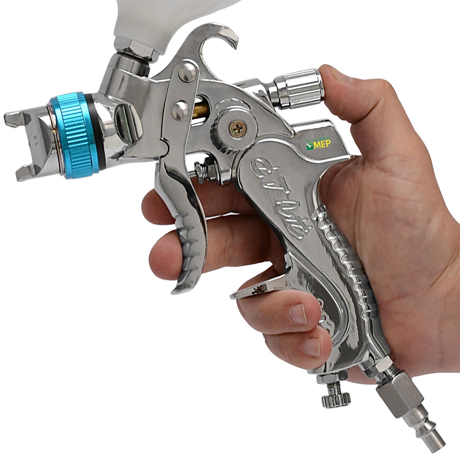 Pistola De Pintura H V L P Alta Produção Tipo Slim Sh0638 - Ferramentas MEP