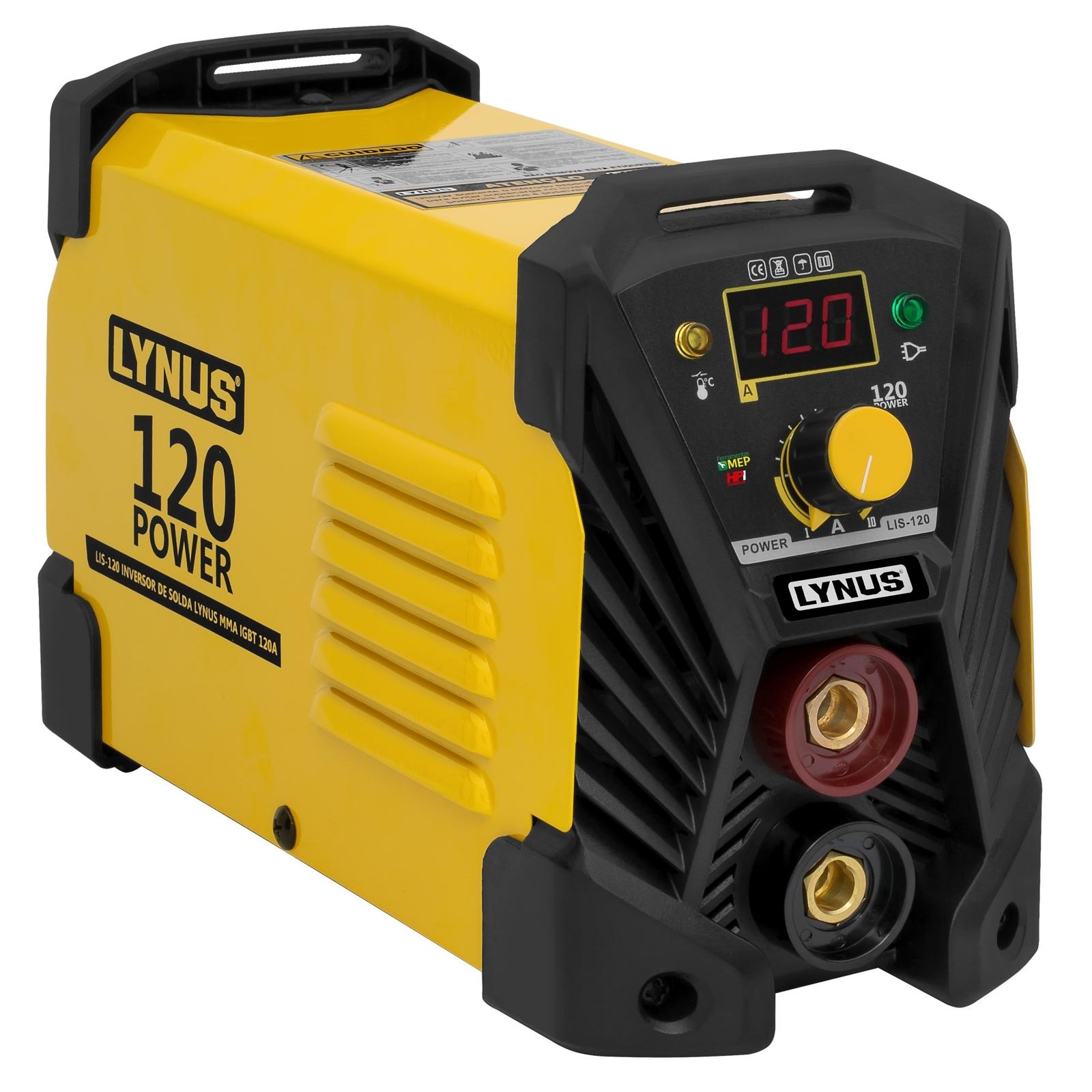 Inversora De Solda Eletrodo Lynus 120amp Bivolt Lis-120 L12 - Ferramentas MEP