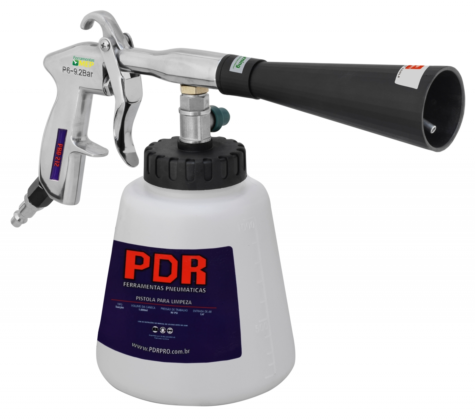 Tornador De Limpeza Profissional PDR Pro-212 Pt2 - Ferramentas MEP