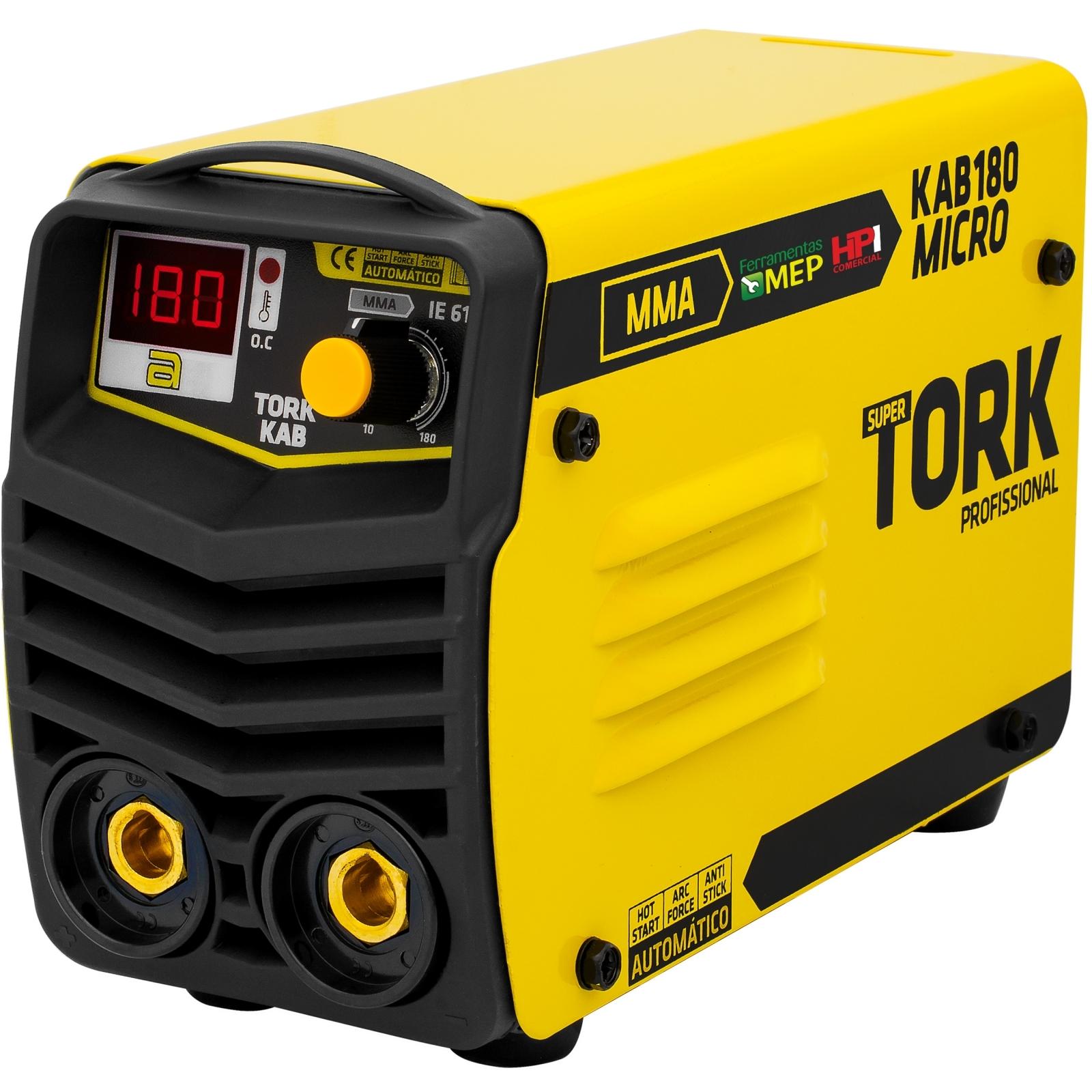 Inversora De Solda Eletrodo Tork 180a Bivolt IE-7180-BV St1 - Ferramentas MEP