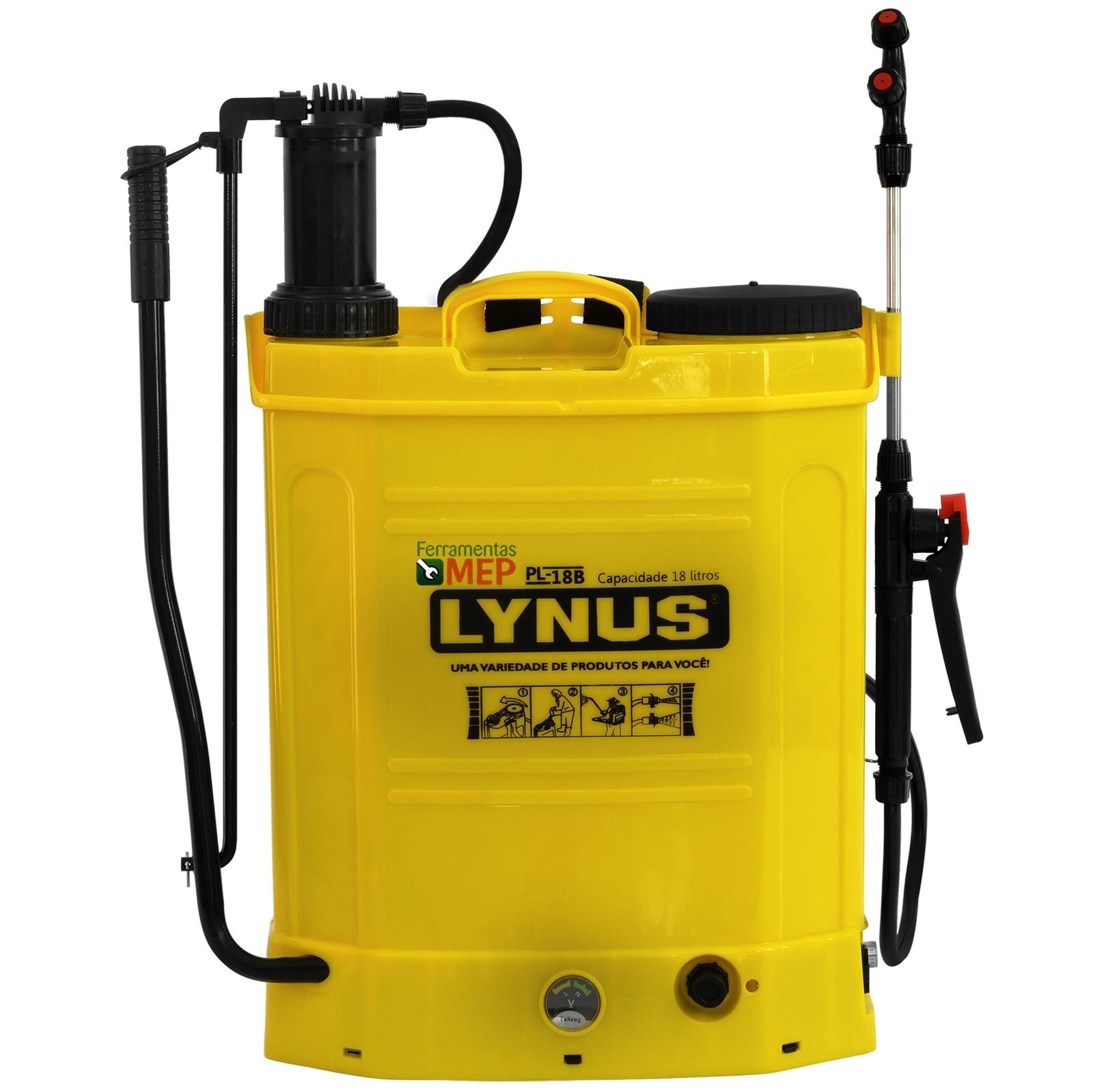 Pulverizador Costal 18 Litros Lynus PL18B Bateria e Manual Ly1 - Ferramentas MEP