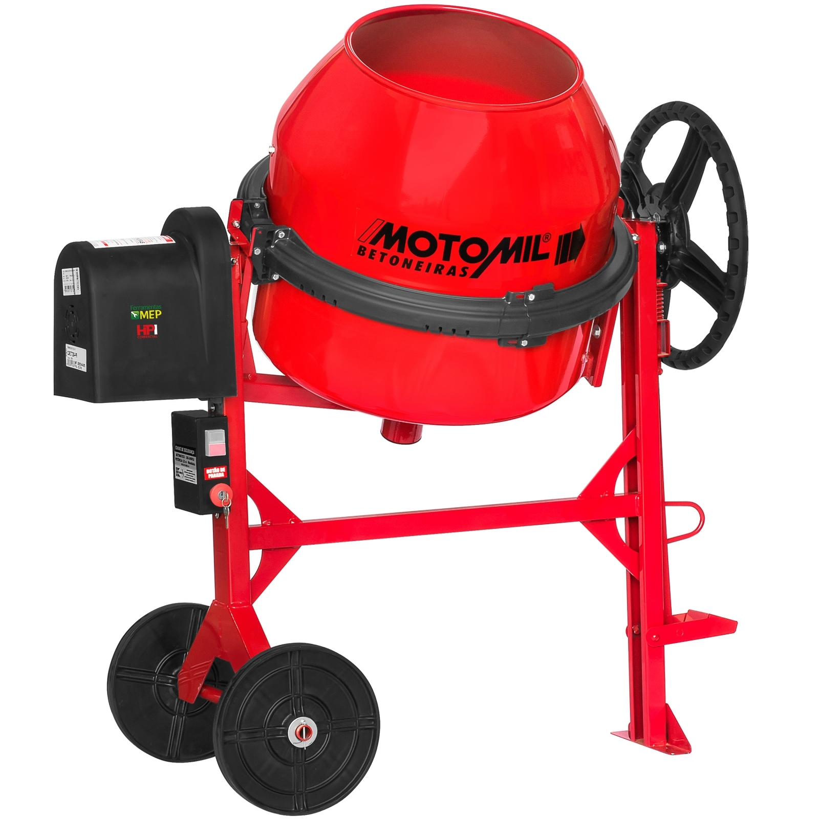 Betoneira Com Motor 150 Litros Monofásico Motomil - Ferramentas MEP