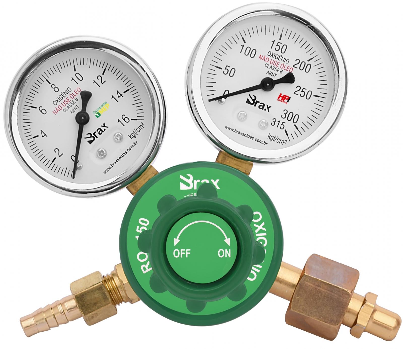 Regulador De Pressão Solda Oxigênio Com Manômetro Cilindro - Ferramentas MEP