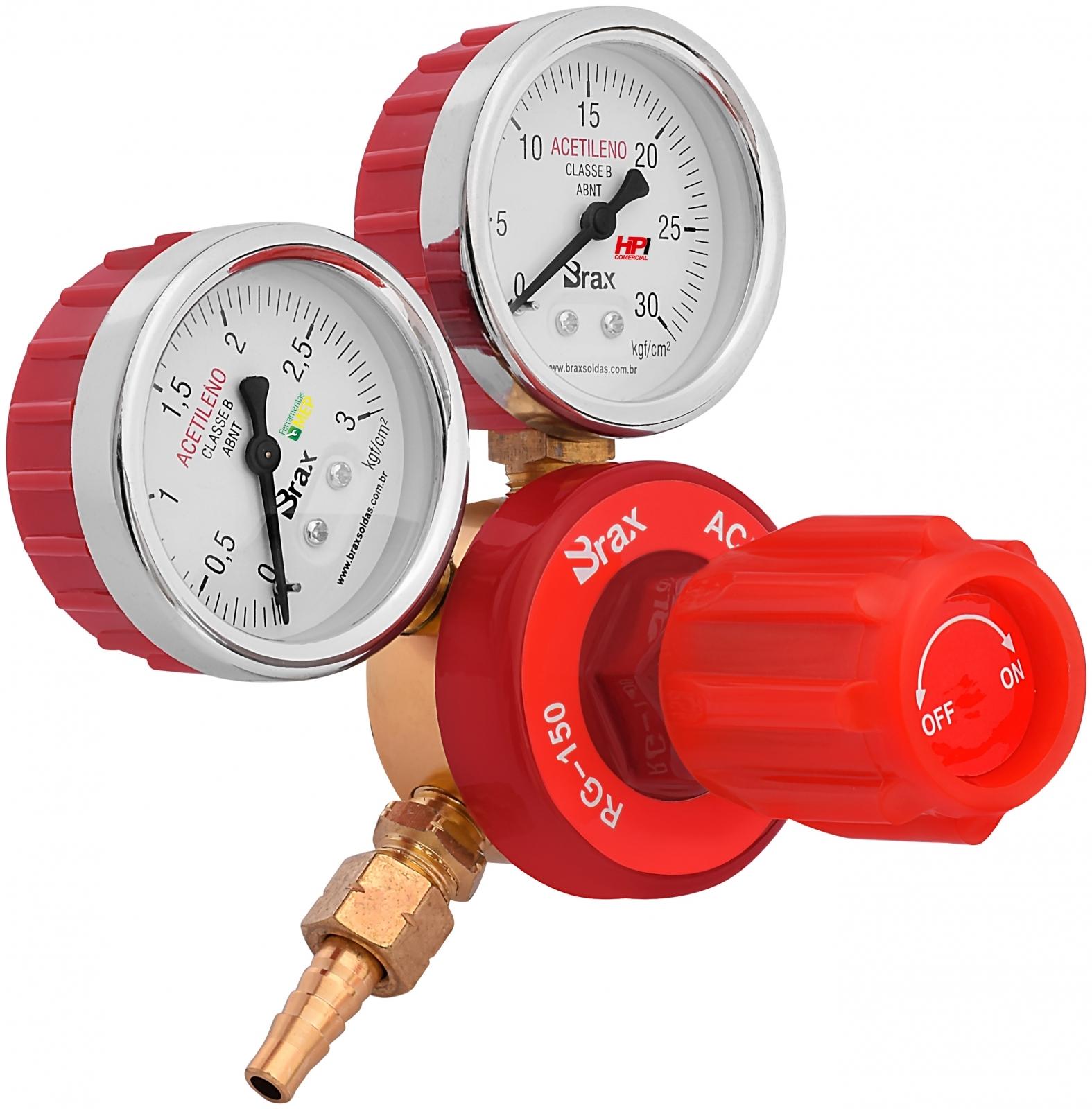 Regulador De Pressão Solda Acetileno Com Manômetro Cilindro - Ferramentas MEP