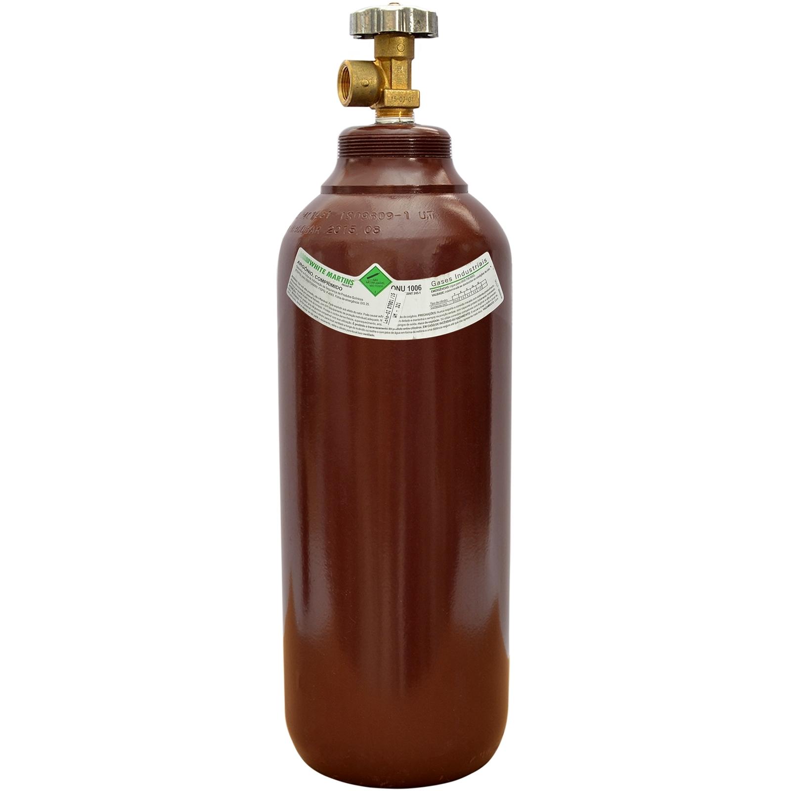 Cilindro  1mt3 Vazio Mistura Argônio Nitrogênio Co2 Oxig - Ferramentas MEP