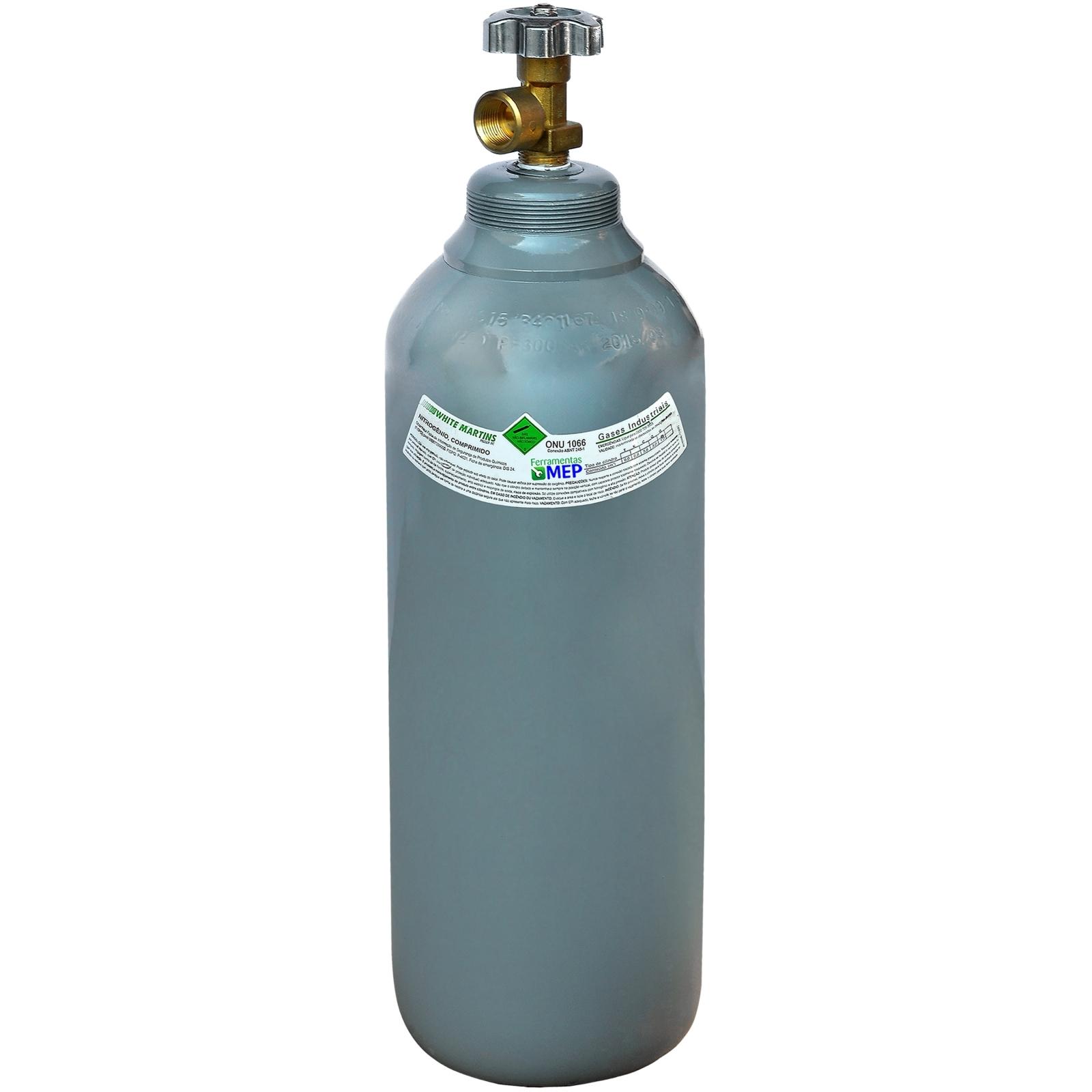 Cilindro de gás  1mt3 7lts Mistura Argônio Nitrogênio Oxigênio - Ferramentas MEP