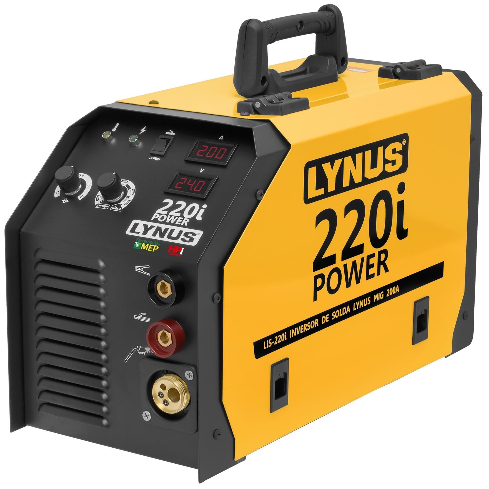 Inversora de Solda Mig Mag Lynus Lis-220i 200amp MMA TIG Ly4 - Ferramentas MEP