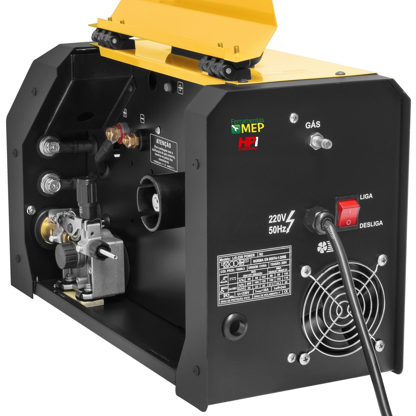 Máquina De Solda Mig Lynus 200amp Lis-220i 200amp MMA TIG Completa Ly3 - Ferramentas MEP
