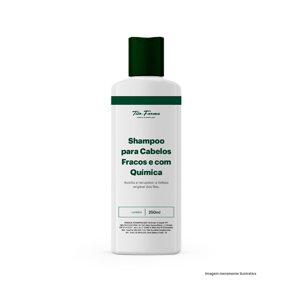 Shampoo para Cabelos Fracos e com Química - 250mL - Tito Farma