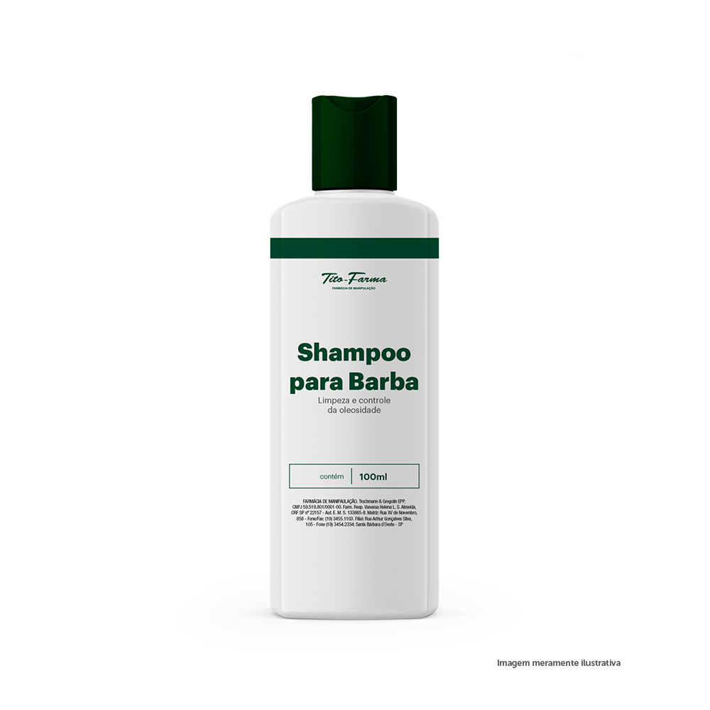 Shampoo Para Barba - Limpeza e Controle da Oleosidade (100mL) - Tito Farma