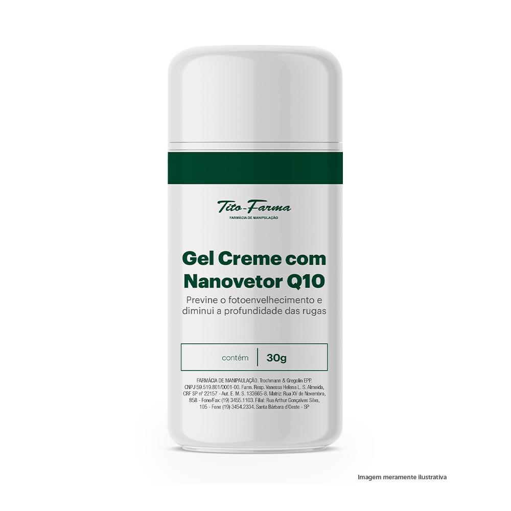 Gel Creme com Nanovetor Q10 - Previne o Fotoenvelhecimento e Diminui a Profundidade das Rugas (30g) - Tito Farma