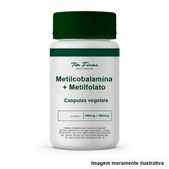 Metilcobalamina 500mcg + Metilfolato 500mcg - (Cápsulas vegetais)