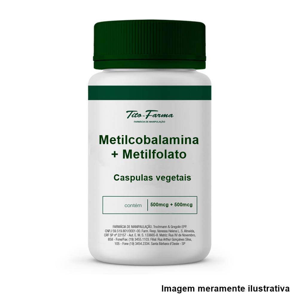Metilcobalamina 500mcg + Metilfolato 500mcg - (Cápsulas vegetais) - Tito Farma