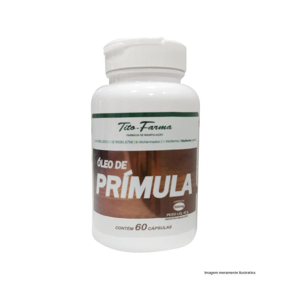 Óleo de Prímula - Auxilia nos Sintomas da TPM (500mg - 60 Cps) - Tito Farma