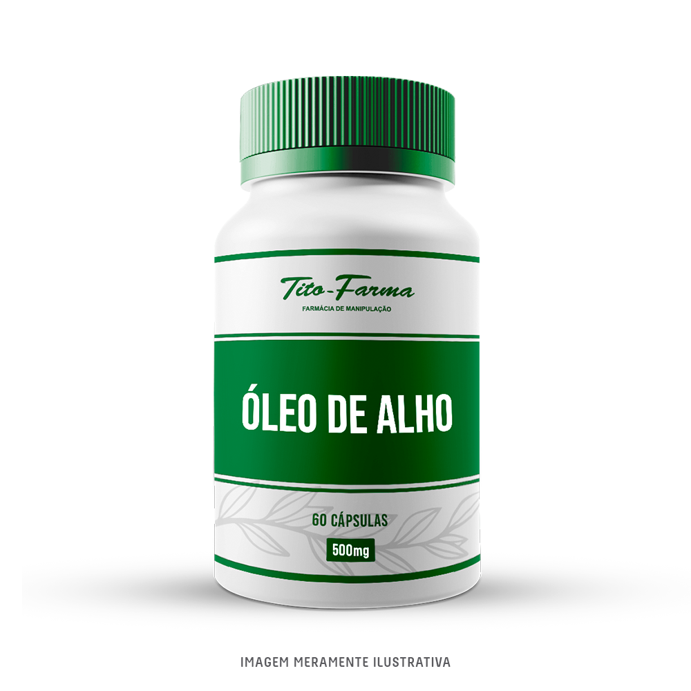 Óleo de Alho - Auxilia na saúde do coração, Imunidade e Pressão Arterial controlada (500mg - 60cps)  - Tito Farma
