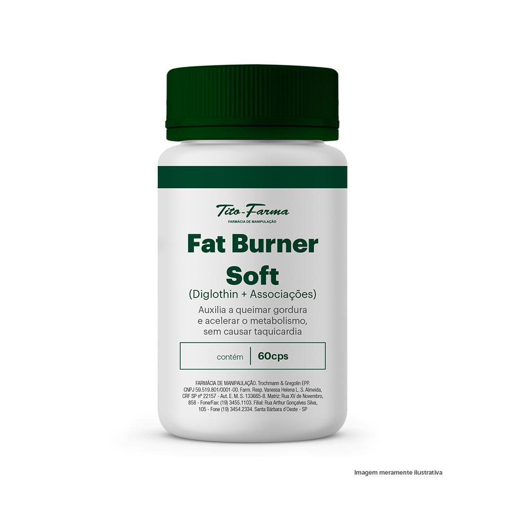 Fat Burner Soft - Auxilia a Queimar Gordura e Acelerar o Metabolismo, Sem Causar Taquicardia(60 Cps) - Tito Farma