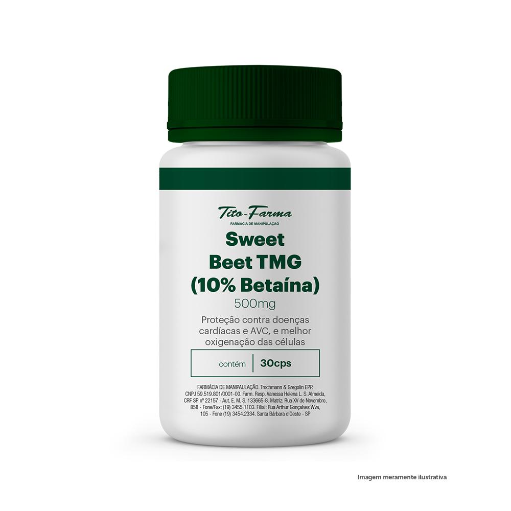 Sweet Beet TMG - Proteção Contra Doenças Cardíacas e AVC, e Melhor Oxigenação das Células (30 Cps) - Tito Farma