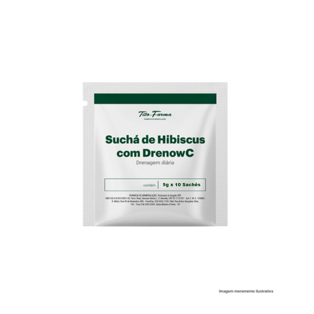 Suchá de Hibiscus com Drenow C (Drenagem Diária) - 5g x 10 Sachês - Tito Farma