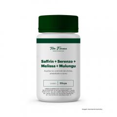 Saffrin + Serenzo + Melissa + Mulungu - Auxilia no Controle de Stress, Ansiedade e Sono (30 Cps)