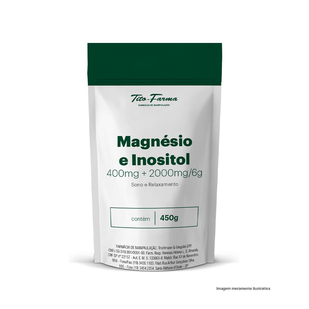 Magnésio e Inositol (400mg + 2000mg/6g) - Sono e Relaxamento (450g) - Tito Farma