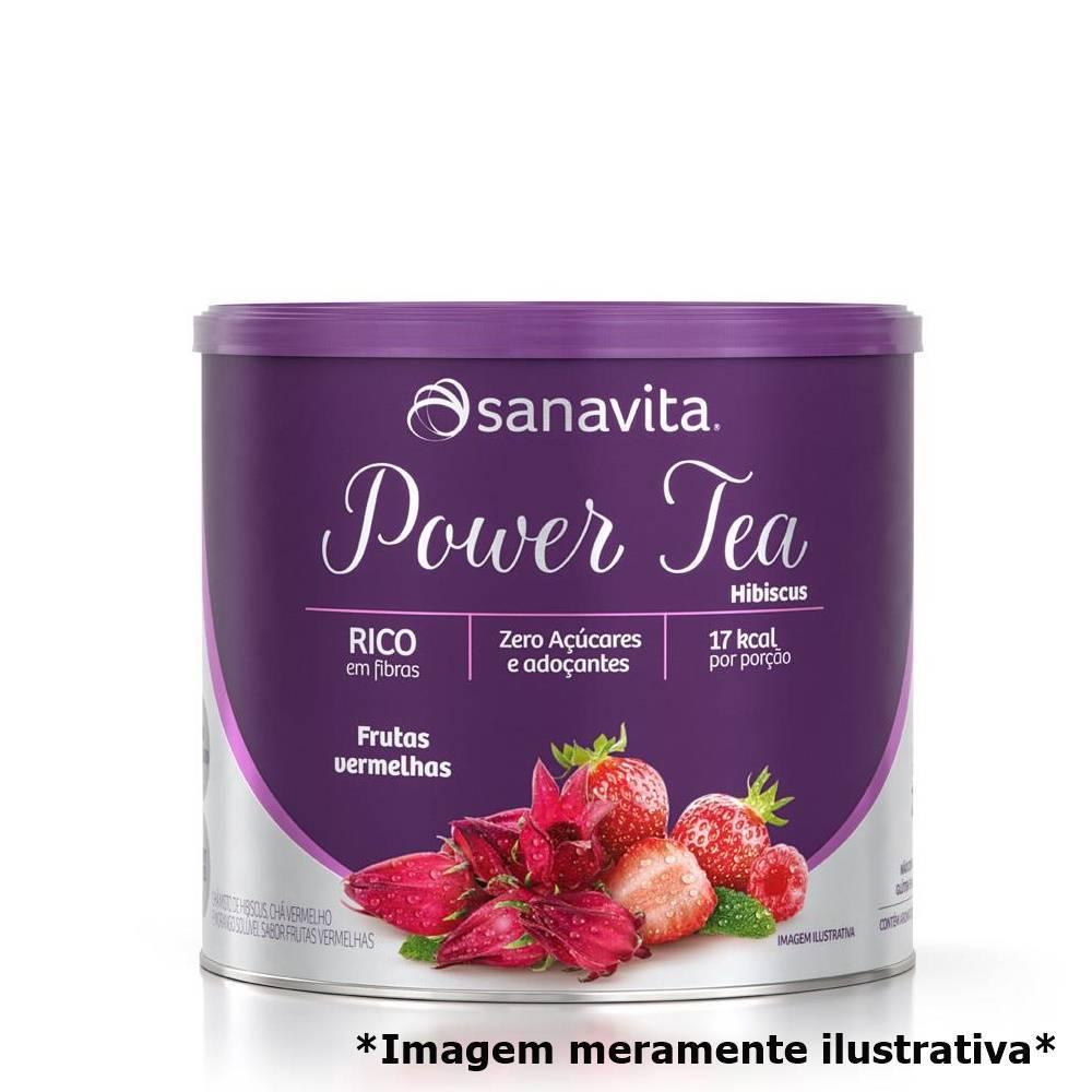 Power Tea Hibiscus - Chá Natural e Concentrado (200g) - Tito Farma