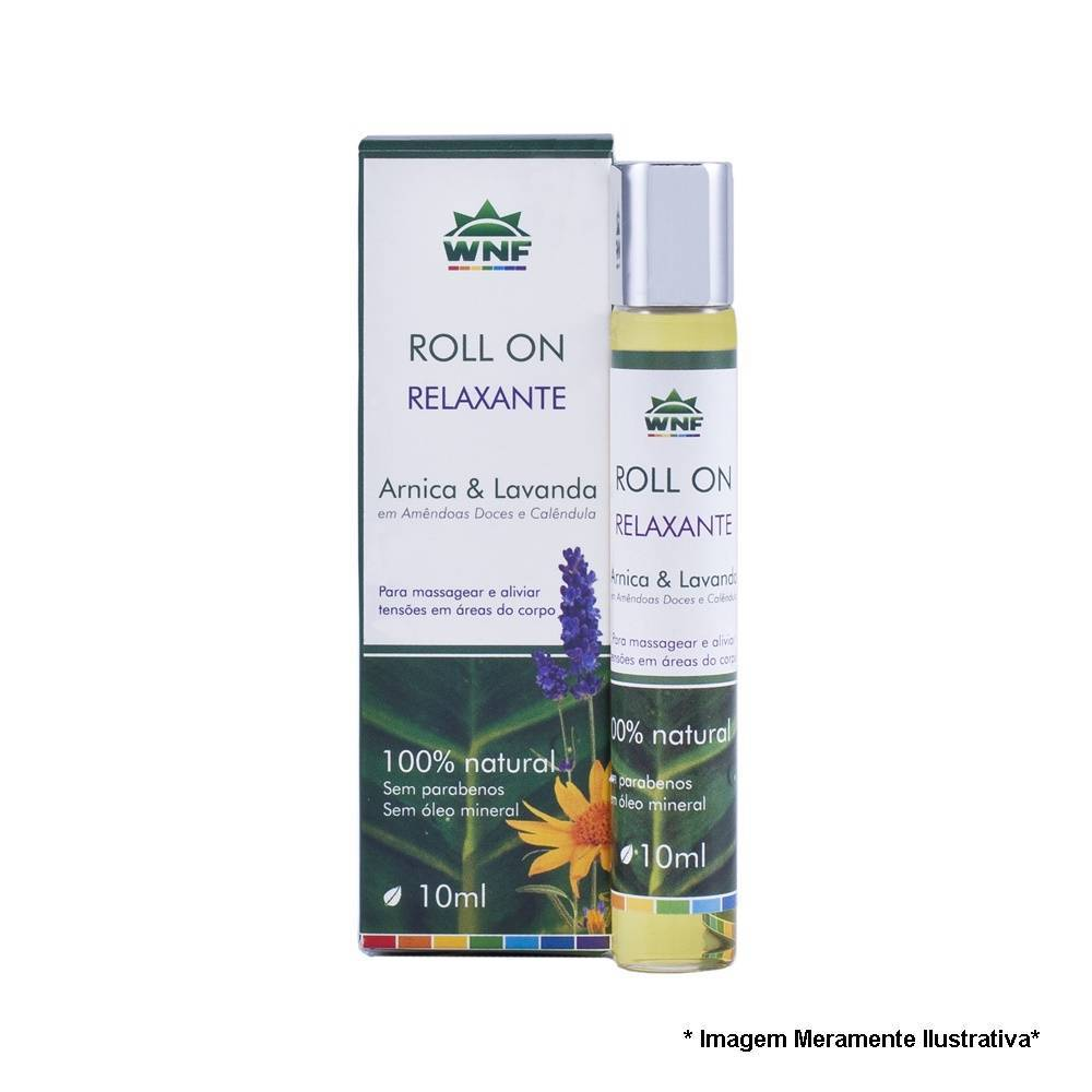 Roll on de Massagem Relaxante 10ml - Óleo Essencial de Lavanda WNF - Tito Farma