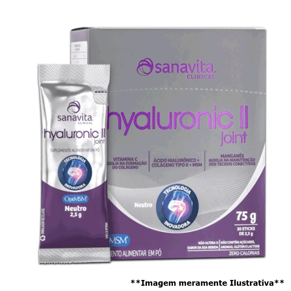 Hyaluronic II Joint - Auxilia na produção de colágeno (30 sticks de 2,5g) - Tito Farma