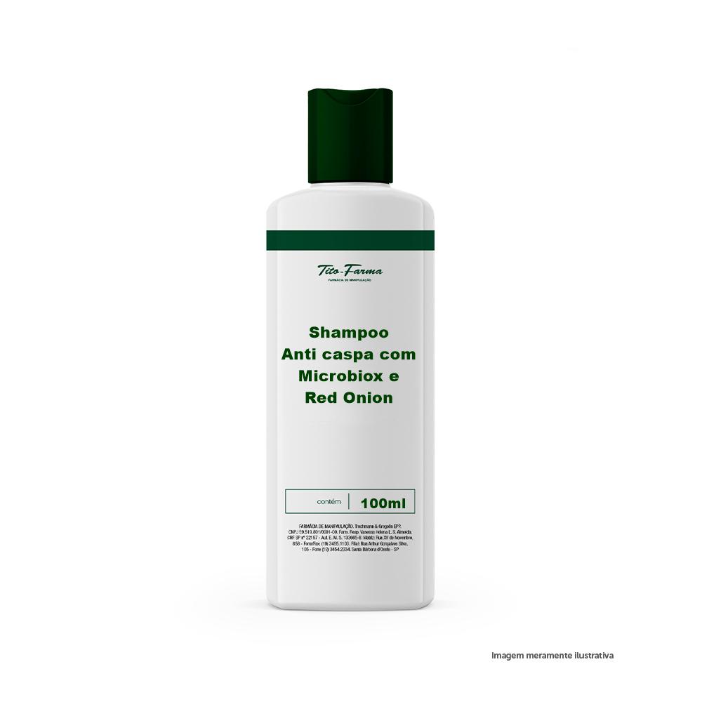 Shampoo Anti caspa com Microbiox e Red Onion - 100ml - Tito Farma