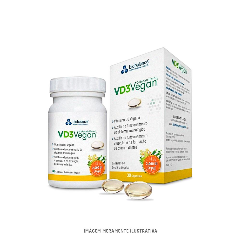 VD3 Vegan - Colecalciferol 2000 UI - 30 cápsulas vegetais Biobalance - Tito Farma