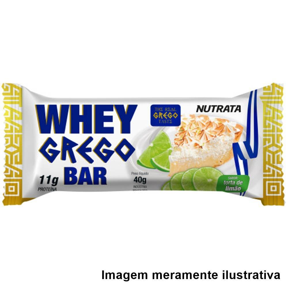 Whey Grego Bar - Sabor Torta de Limão (40g) - Tito Farma