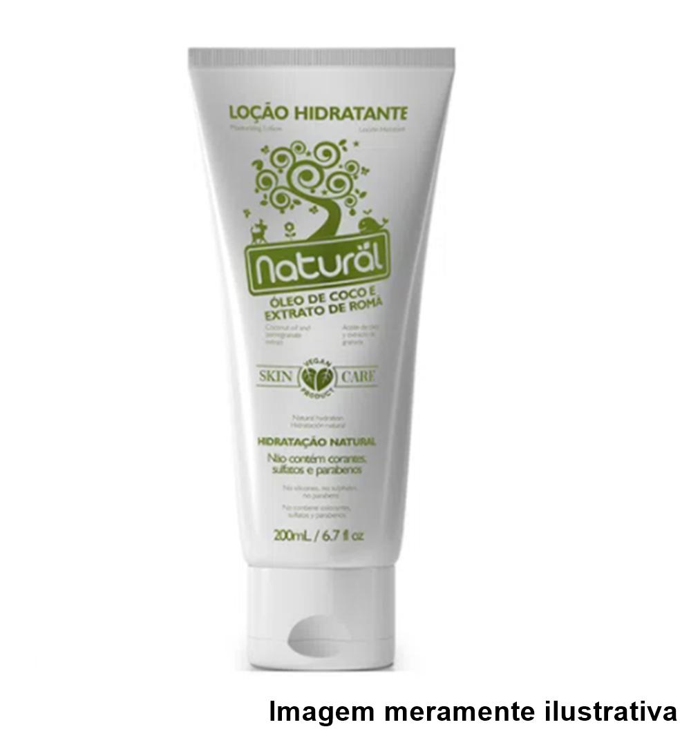 Loção Hidratante Vegana (Com Óleo de Coco e Extrato de Romã) - Hidratação Natural - 200ml - Tito Farma