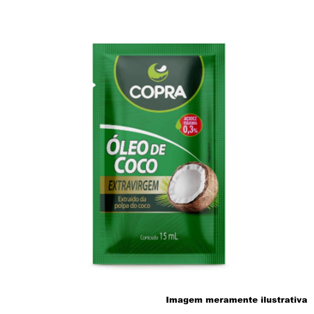 Óleo de Coco Extra Virgem em Sachê - Promove Menor Acúmulo de Gorduras no Corpo (15ml) - Tito Farma